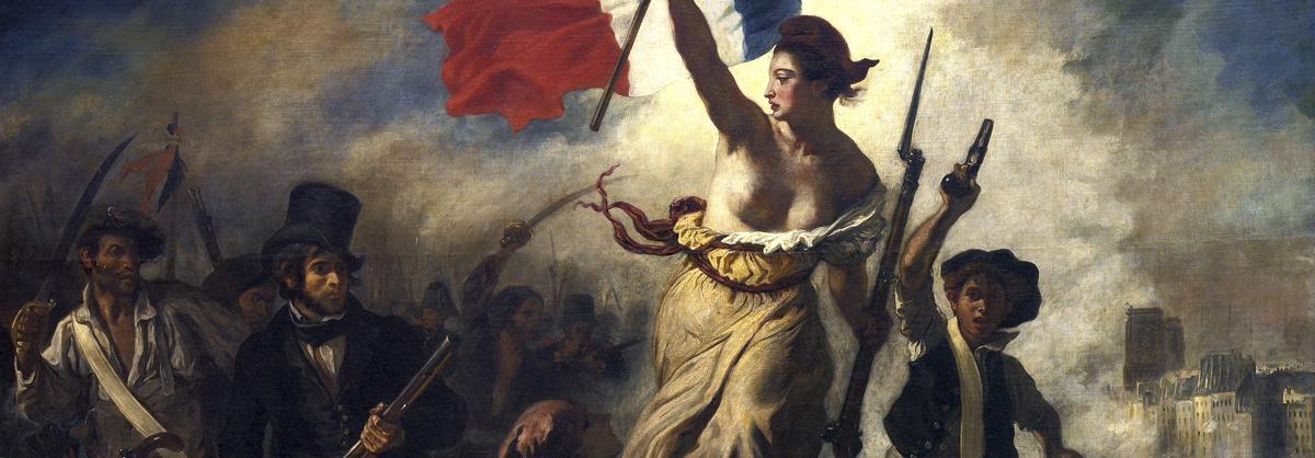 A liberdade guiando o povo – E. Delacroix (1798 – 1863)