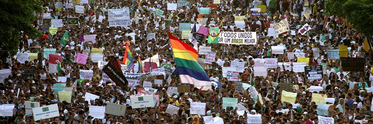 Manifestação de 20 de junho em Recife.