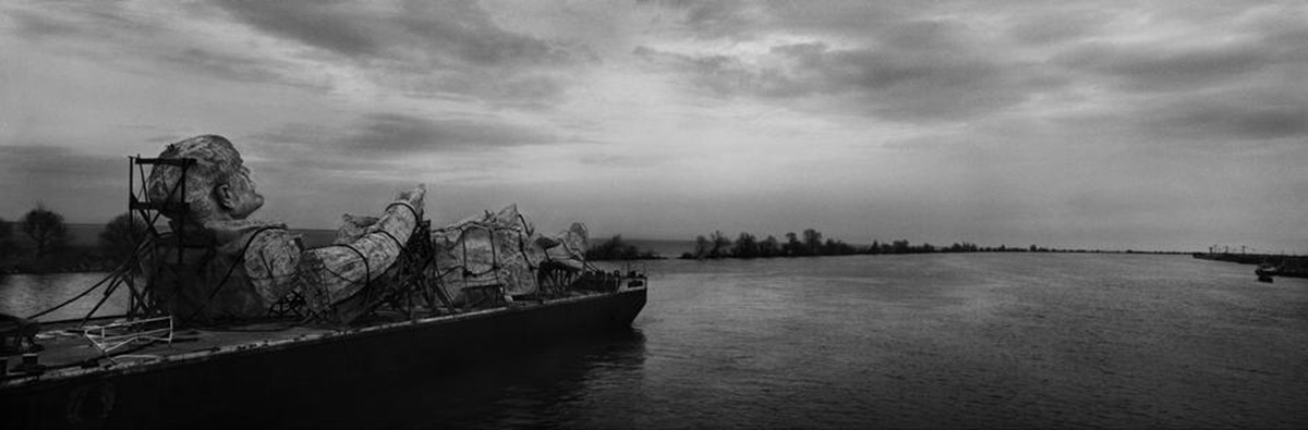 ROMANIA. 1994. The Danube delta region. Location shooting of the film 'Ulysse's Gaze', directed by Theo ANGELOPOULOS - Josef Koudelka