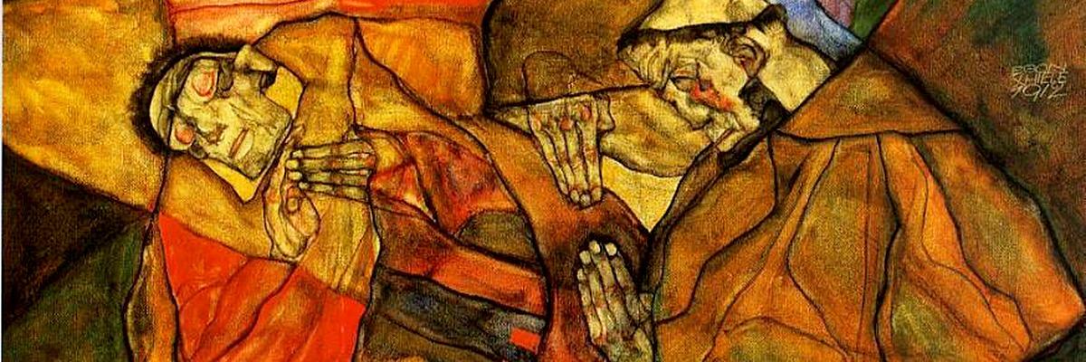 Egon Leo Adolf Schiele (1890-1918) - Agonia, 1912. Viena começo do Século XX.