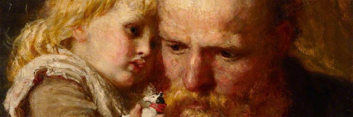 Pai e filha – by Karl Wilhelm Friedrich Bauerle.
