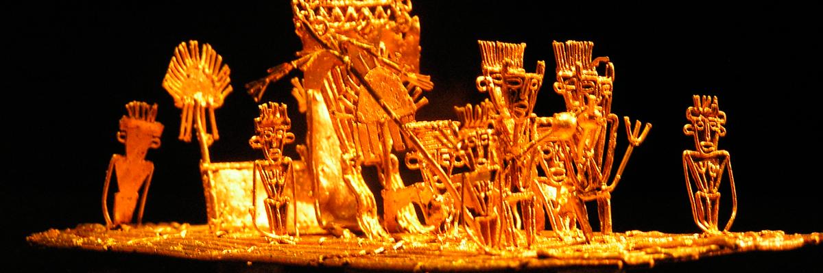 Peça do Museu do Ouro, Bogotá, Colômbia.