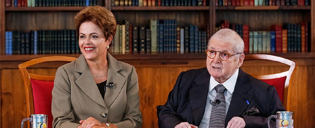 Presidente Dilma Rousseff em polêmica entrevista com Jô Soares