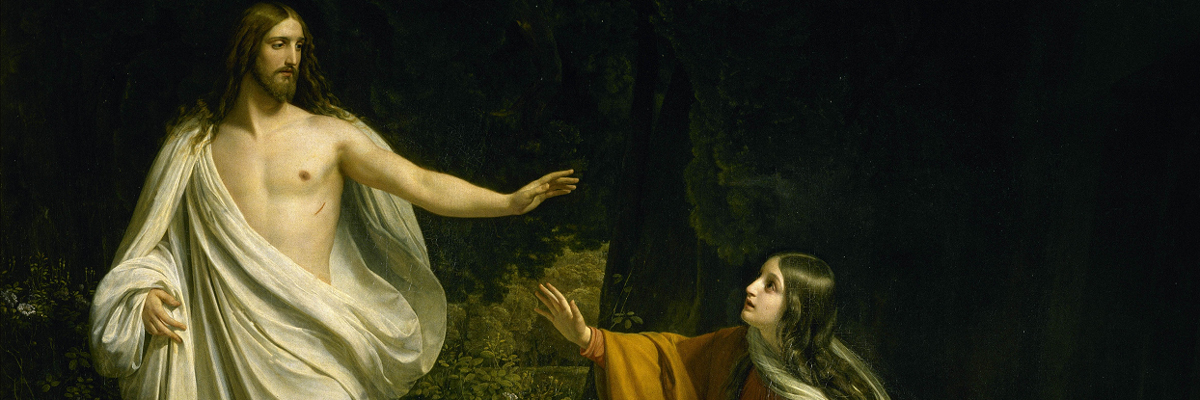 Christ's Appearance to Mary Magdalene after the Resurrection – by Alexander Ivanov (1806 - 1858).