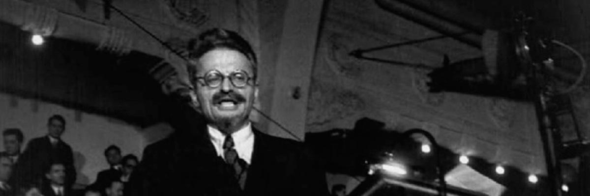 Trotsky em Copenhague, 1932.