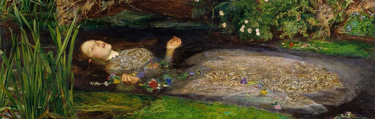 John Everett Millais' Ophelia (1852).