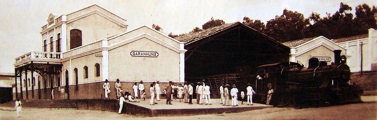 """Estação Ferroviária da """"Gret Western"""" em Garanhuns - 1910."""