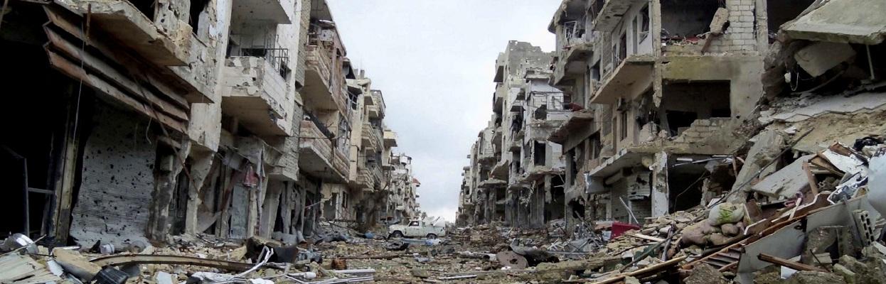 Síria devastada - autor desconhecido.