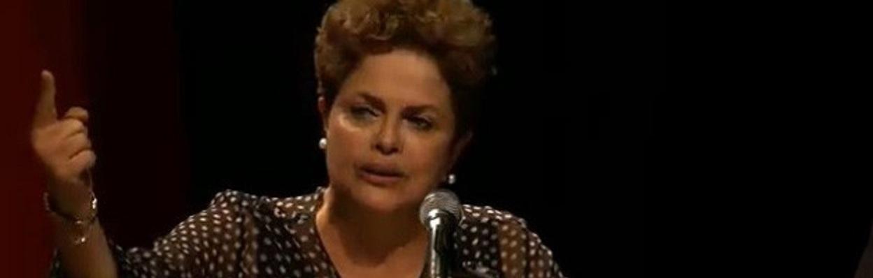 Presidente Dilma Rousseff discursando.