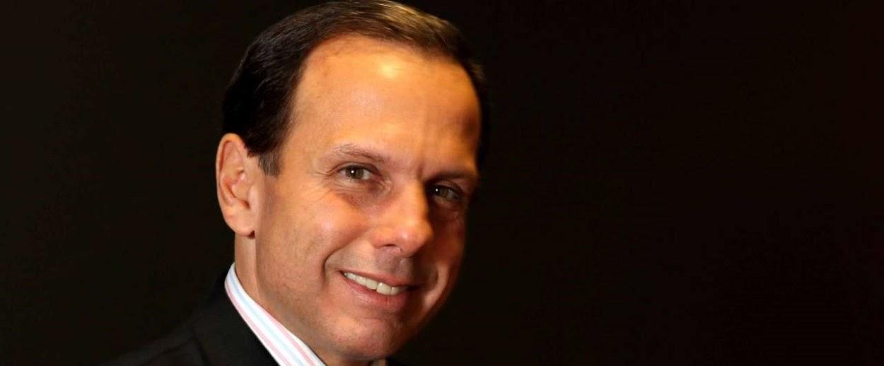 João Dória - PSDB, prefeito de São Paulo eleito no primeiro turno com 53% dos votos.