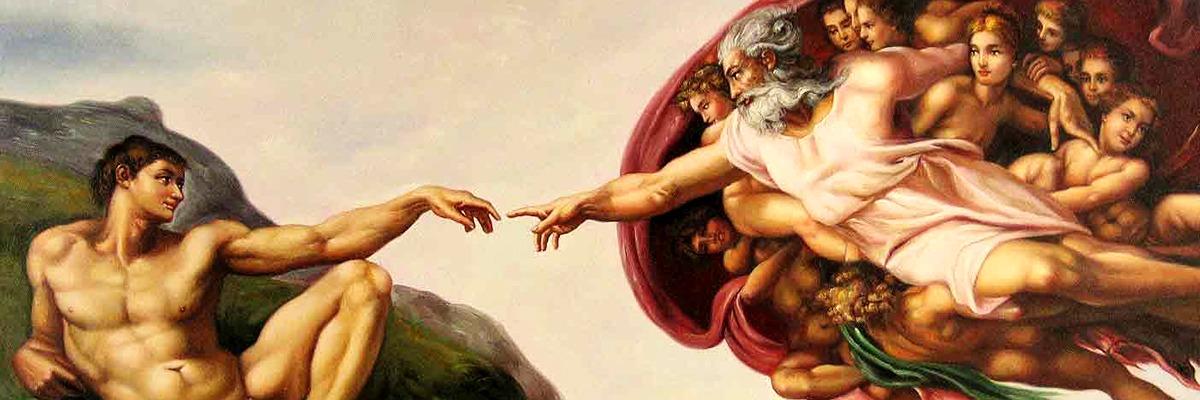 A Cria??o de Ad?o, teto da Capela Sistina Vaticano ? Michelangelo Buonarroti