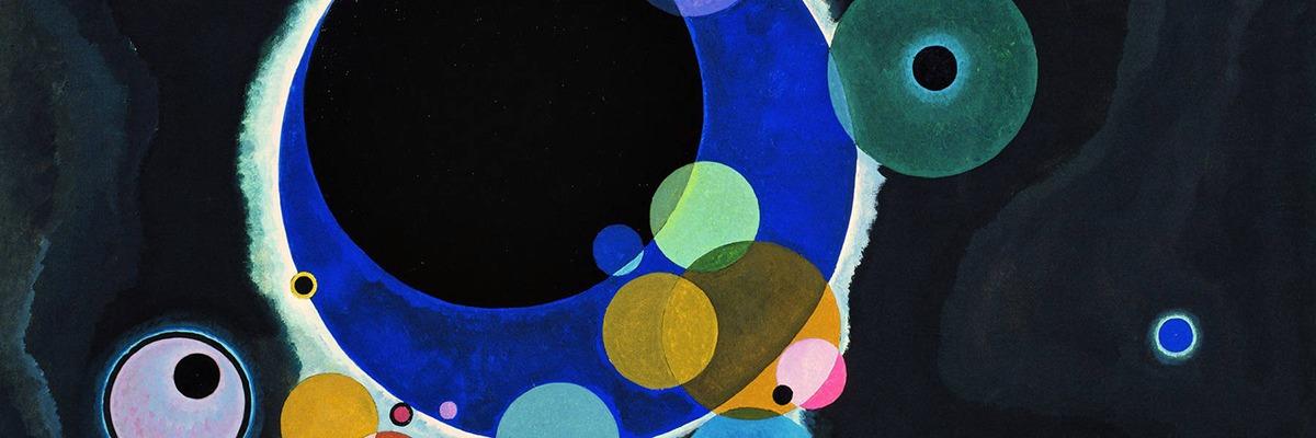 Quadro de Kandinsky, o pai da arte abstrata.