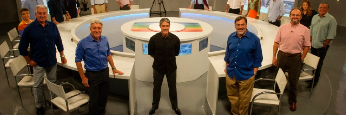 Equipe de jornalistas da Rede Globo.