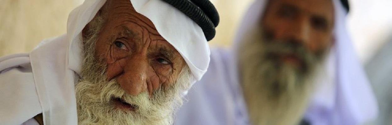 Um clérigo iraquiano da religião Yazidi, minoria ameaçada pelo Estado Islâmico.
